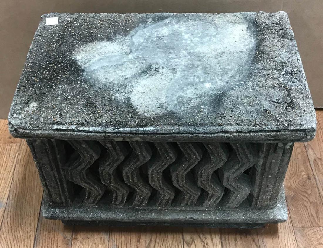 Carved Stone Pedestal - 3