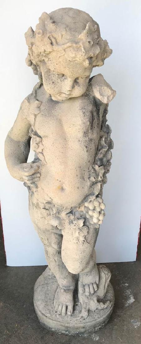 Antique Classical Stone Standing Putto
