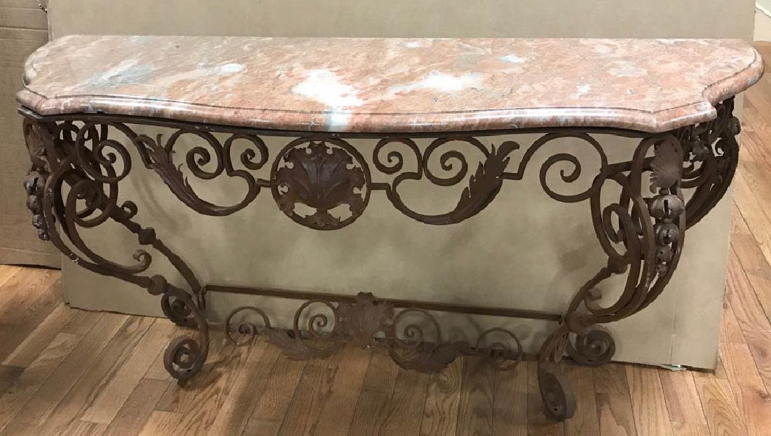 Semi Antique Wrought Iron Wall Table