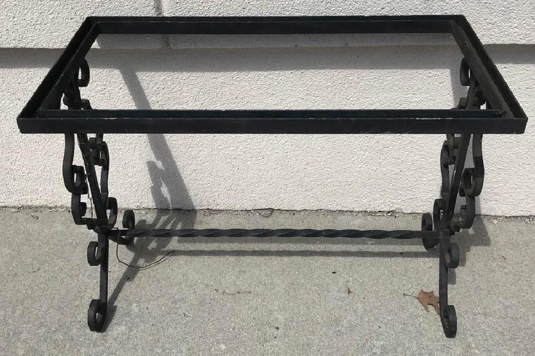 Black Wrought Iron Table
