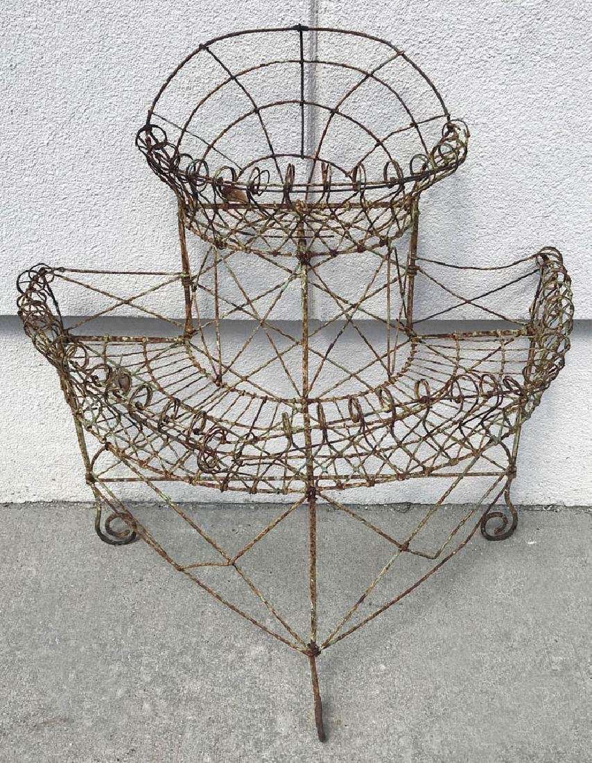 Victorian Wrought Iron Plant Stand