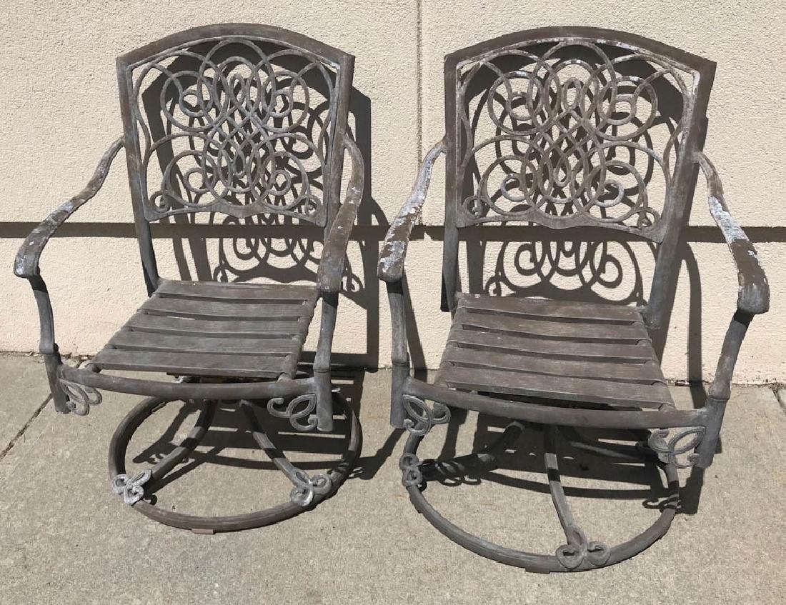 Cast Aluminum Armchairs