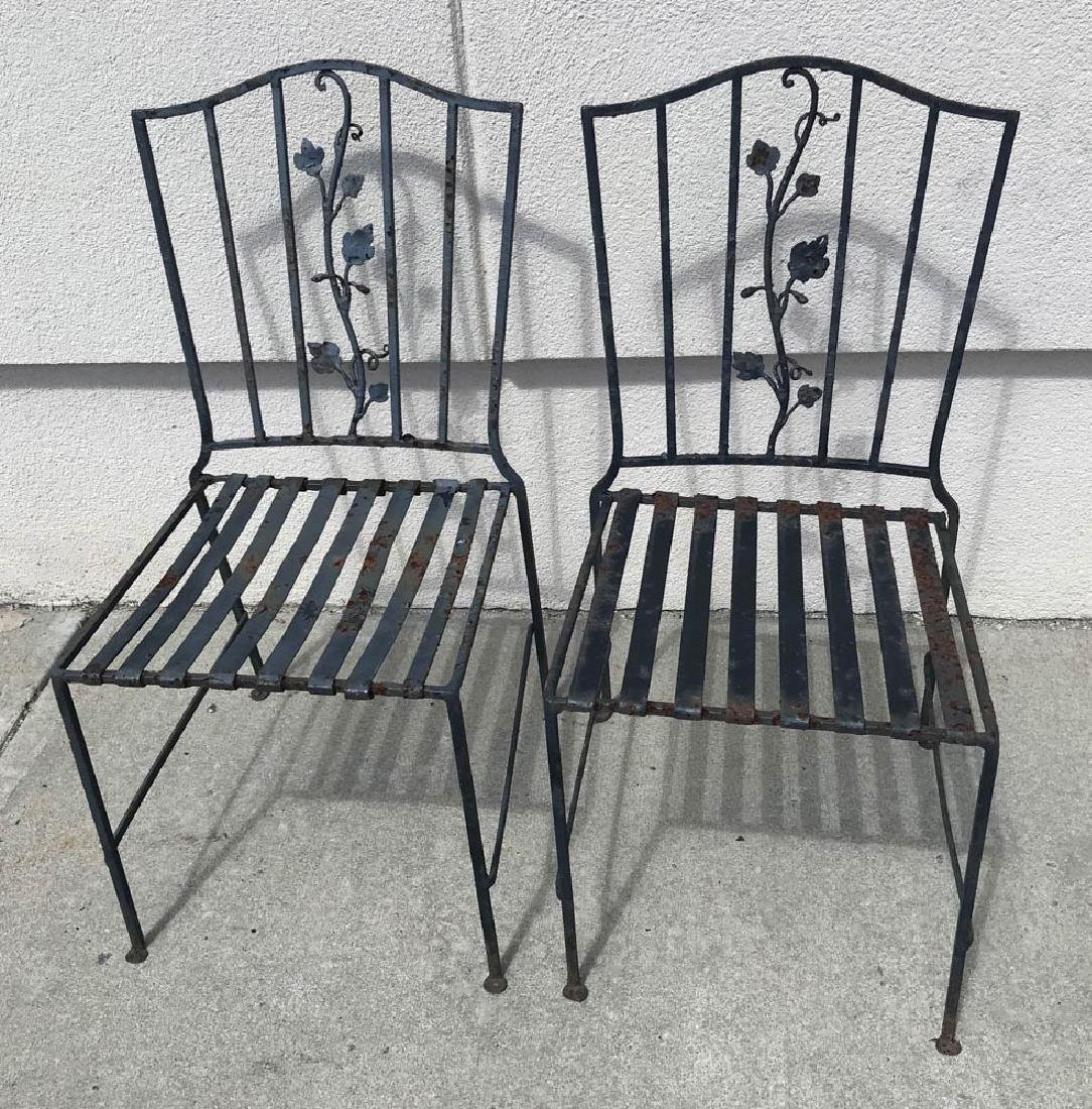 Pair of Black Iron Chairs