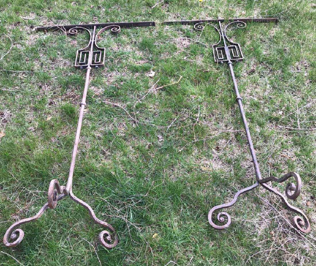 Pair of Tall Wrought Iron Candelabra