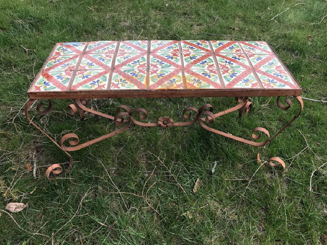 Spanish Colonial Style Tile Top Table