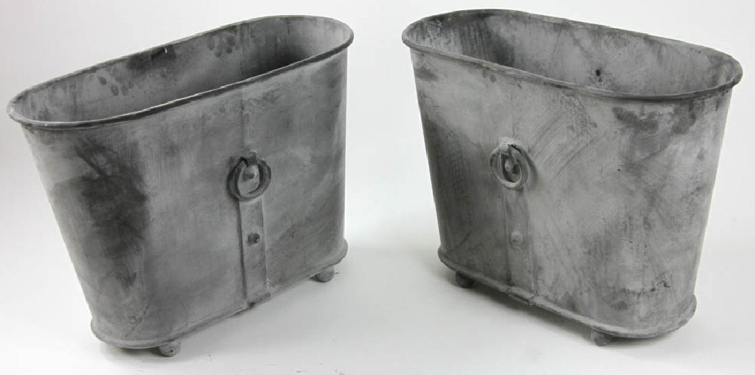 Pair of Georgian Style Oval Planters