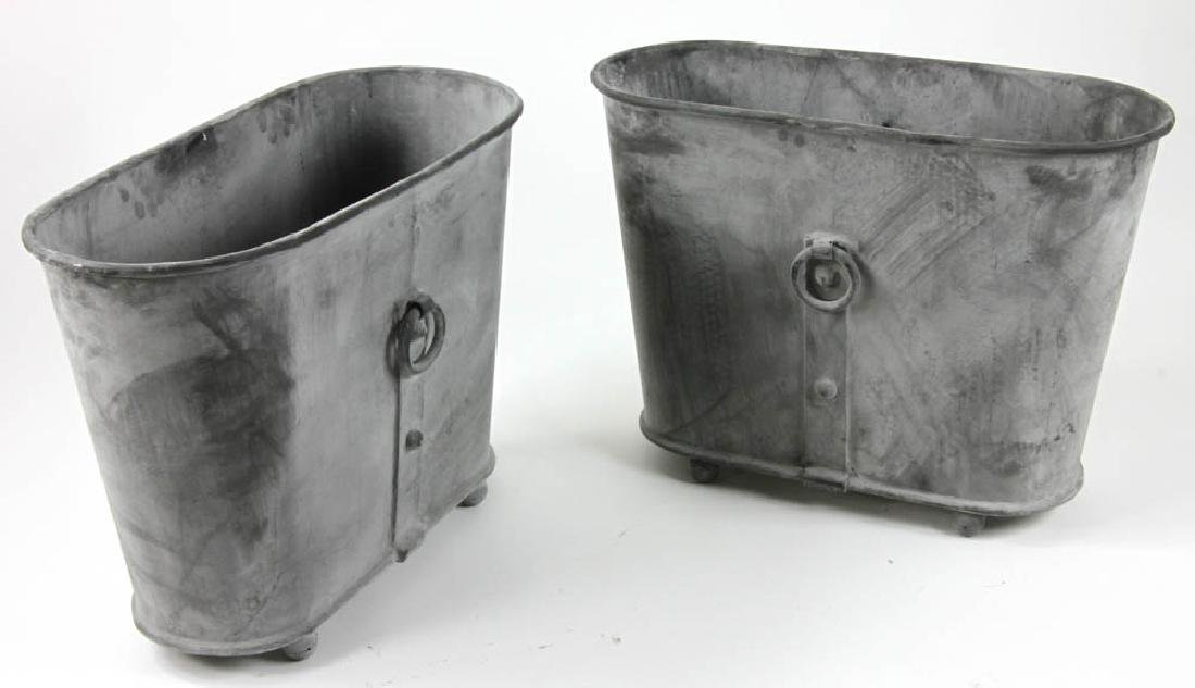 Pair of Georgian Style Oval Planters - 2