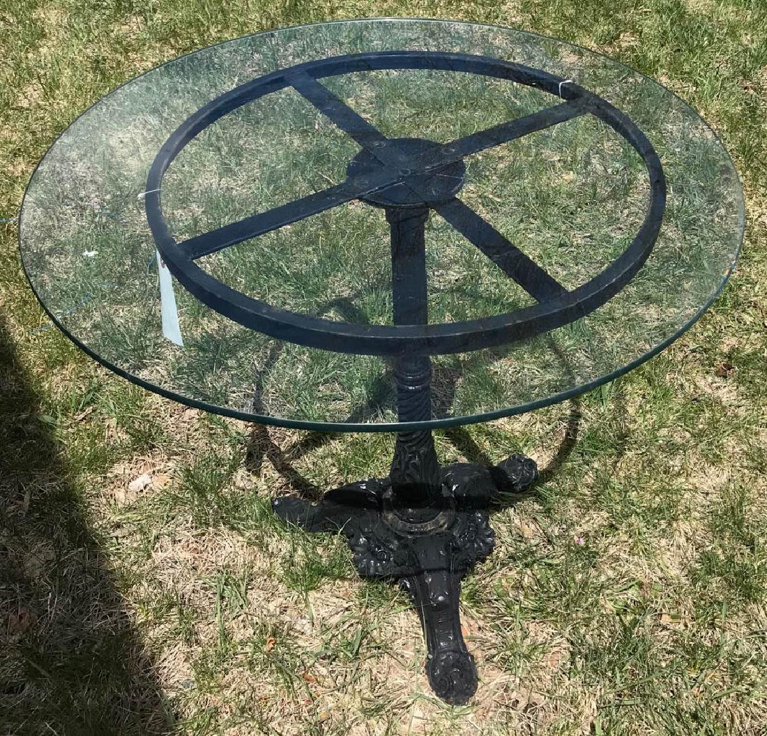 Black Metal Pedestal Table