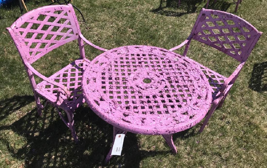 Cast Iron Lavender Patio Set