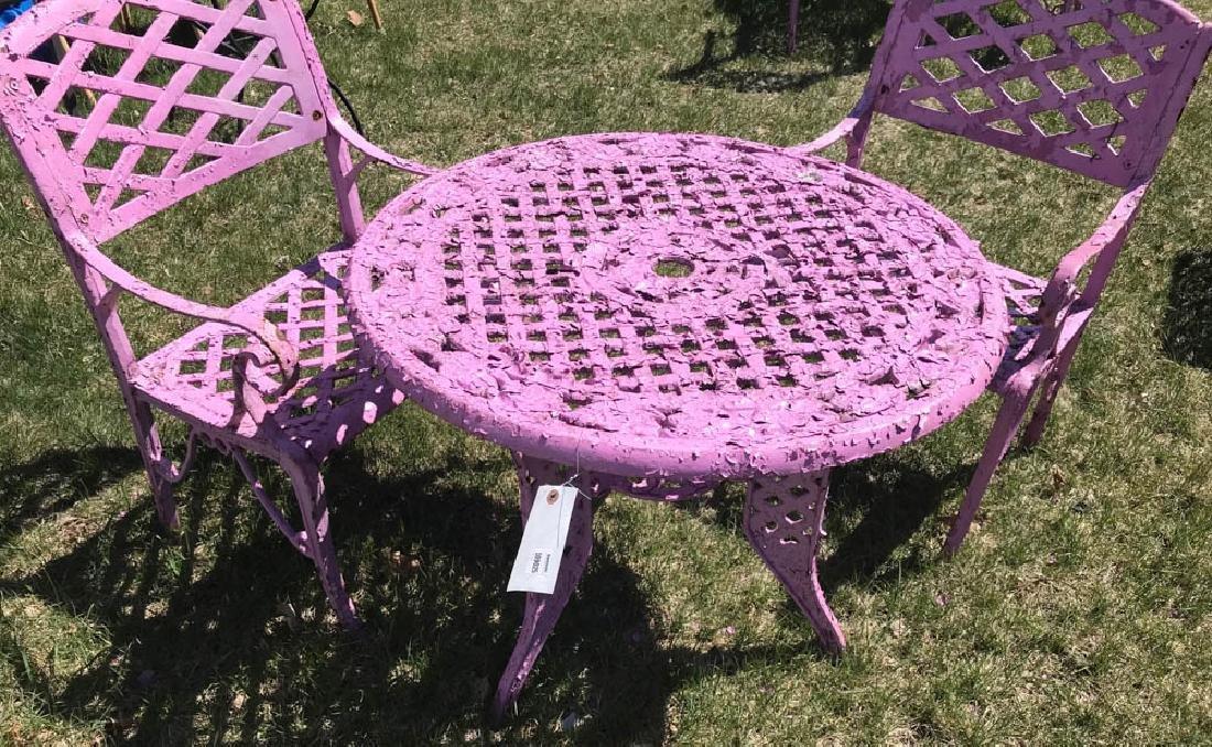 Cast Iron Lavender Patio Set - 2