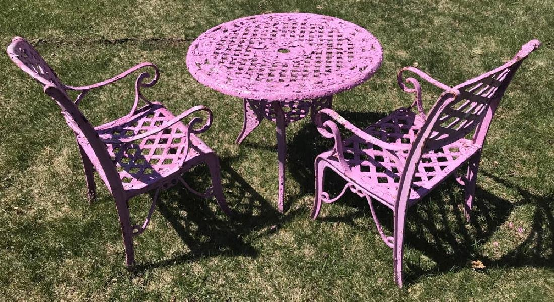 Cast Iron Lavender Patio Set - 3