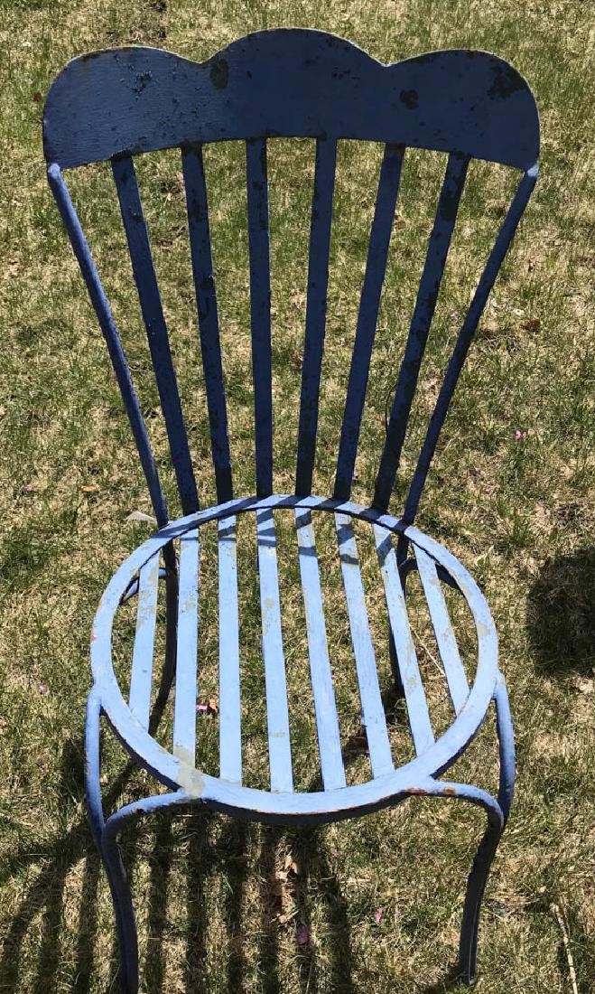 Blue Metal Garden Chair