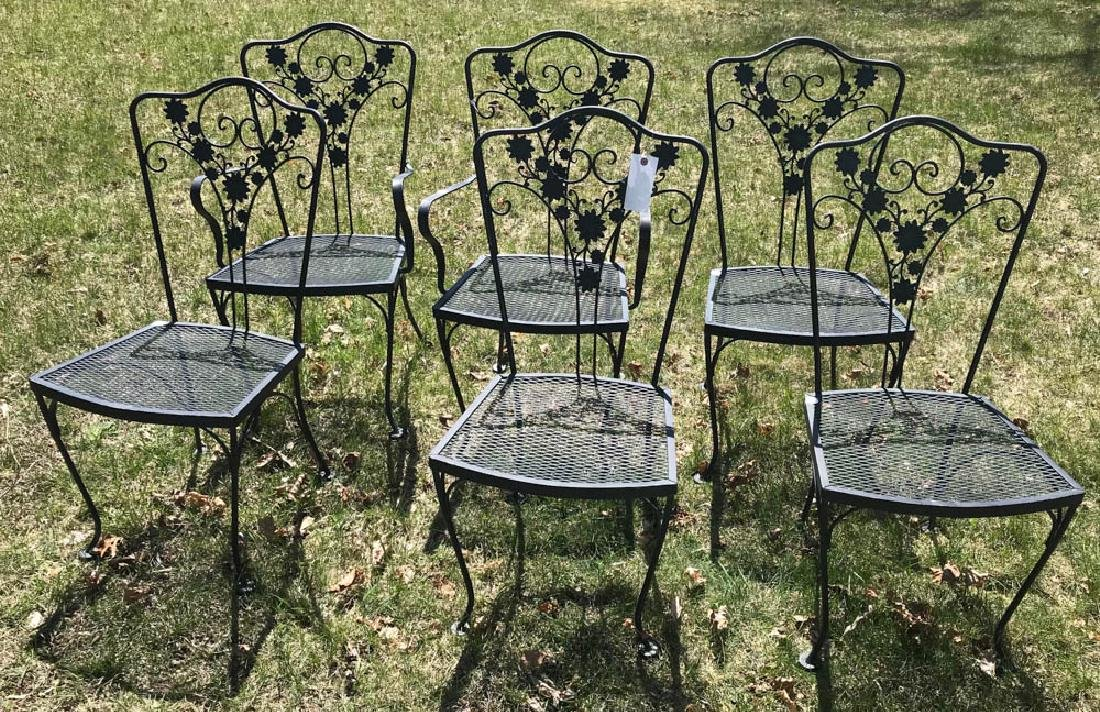 Group of Six Woodard Patio Chairs