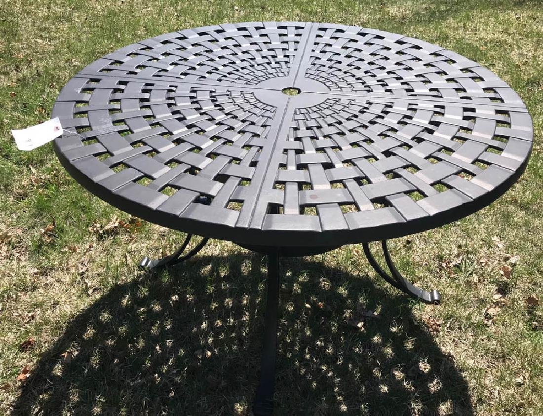 Black Round Patio Table