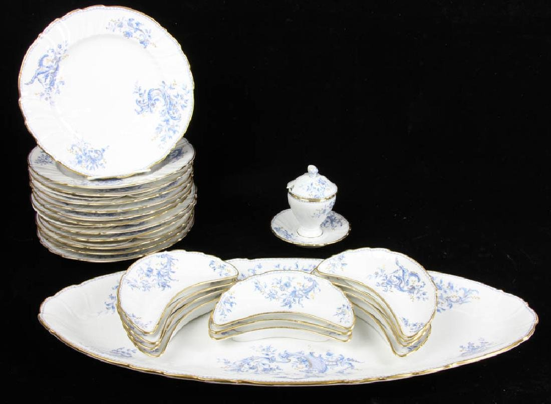 Fine French Porcelain Fish Service