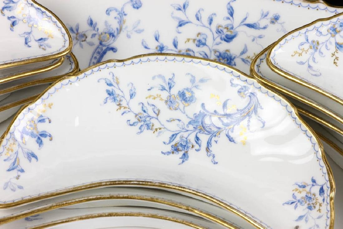 Fine French Porcelain Fish Service - 2