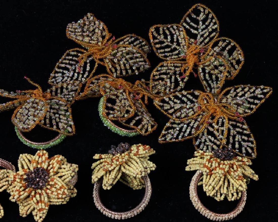 Bakelite Napkin Rings, Linen Roses - 5