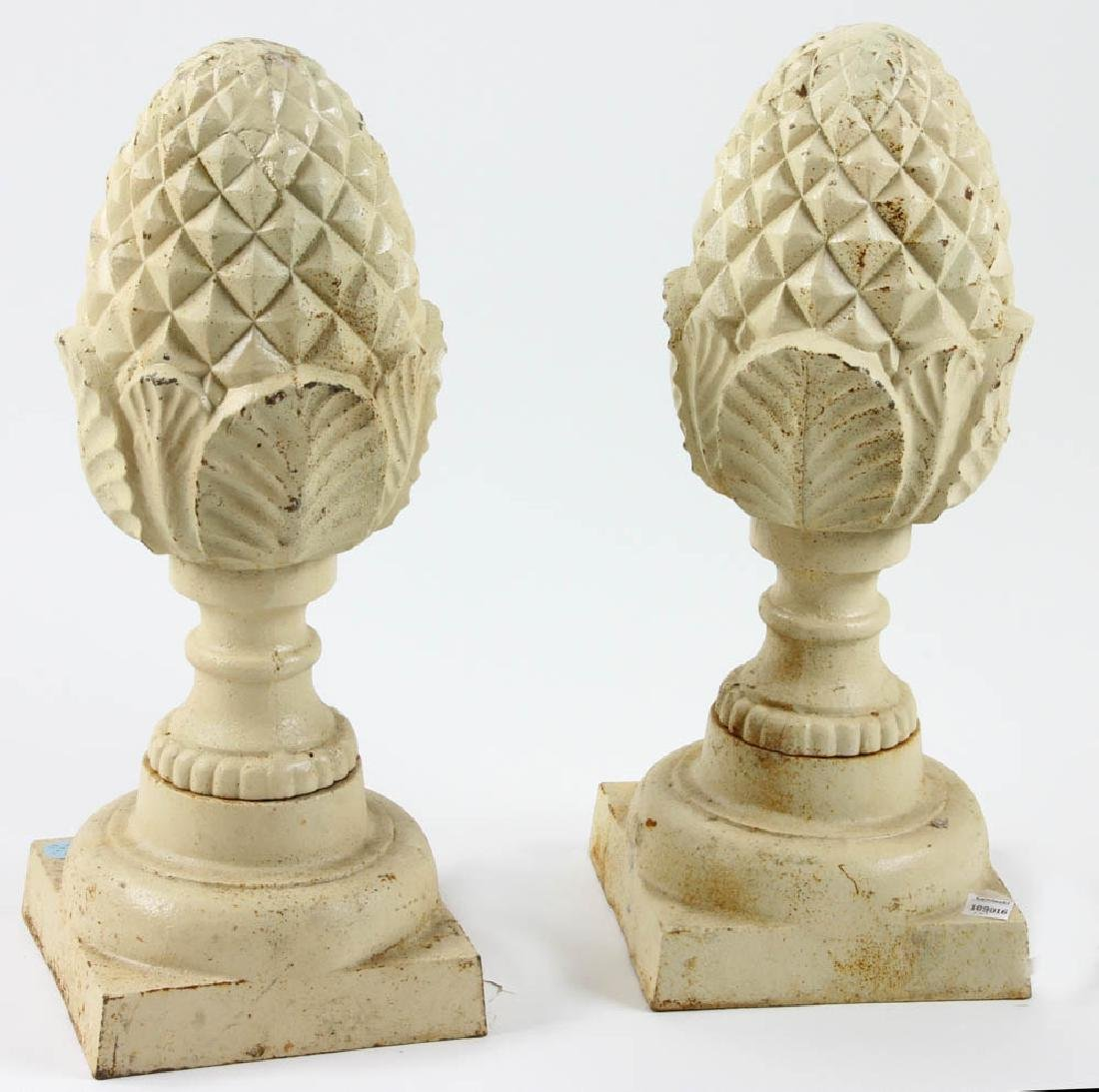 Pair of Cast Iron Pineapples