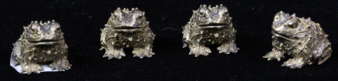 Four Bronze Toads Signed Karen Callan - 2