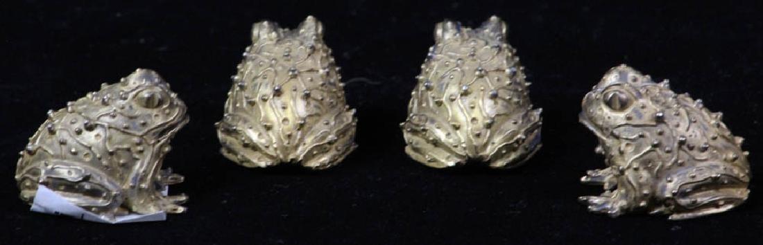 Four Bronze Toads Signed Karen Callan - 3