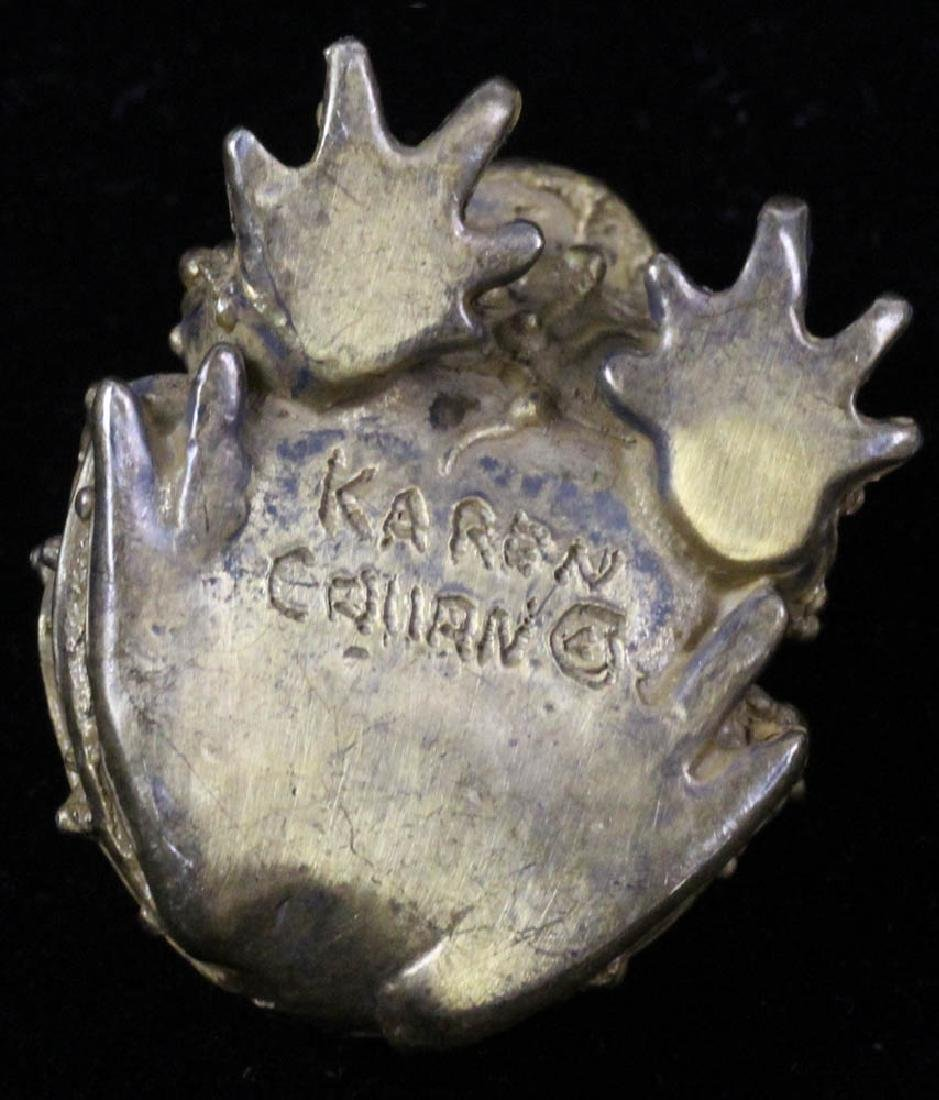 Four Bronze Toads Signed Karen Callan - 4