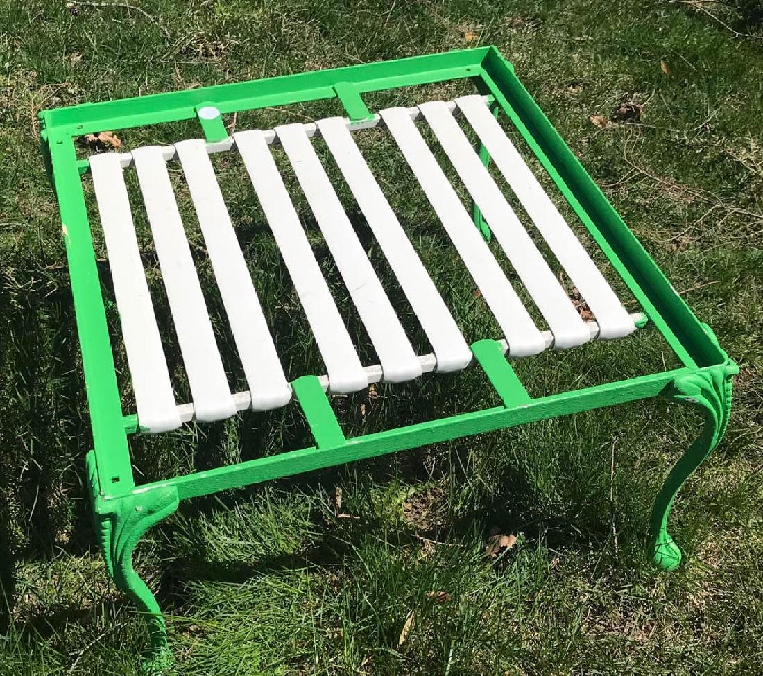 Eight Piece Green Metal Patio Set - 3