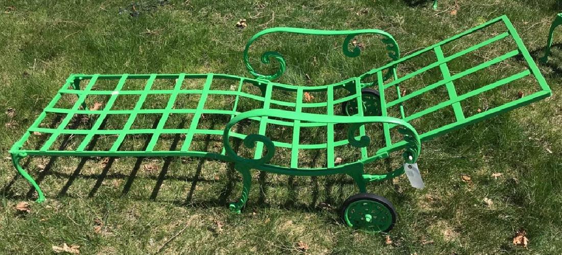 Eight Piece Green Metal Patio Set - 4