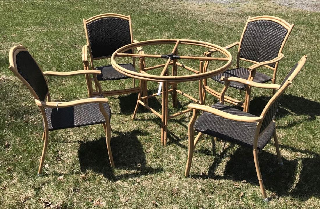 Ebel Patio Set, Table with Four Armchairs