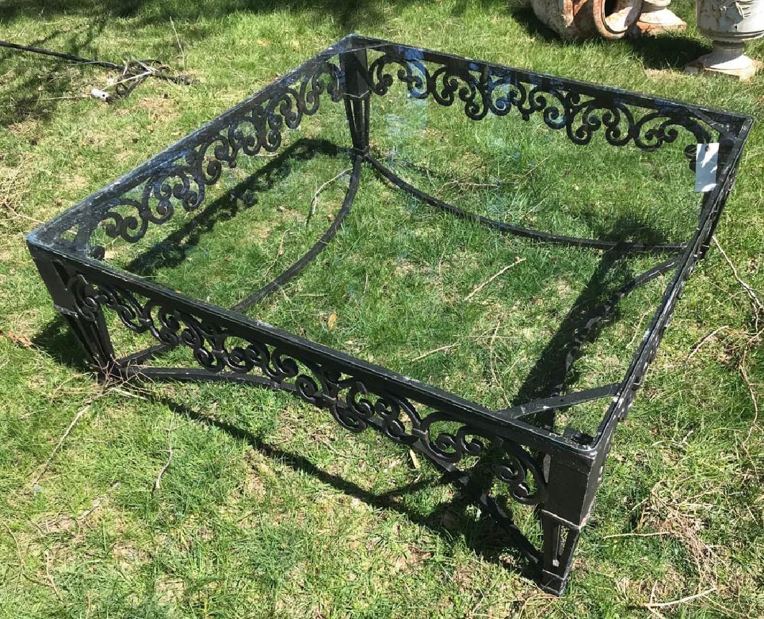 Large Ornate Black Metal Square Table - 2