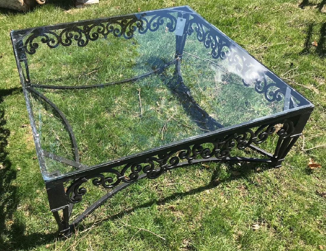 Large Ornate Black Metal Square Table - 3