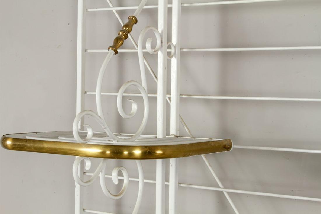 White Painted Brass Baker's Rack - 4