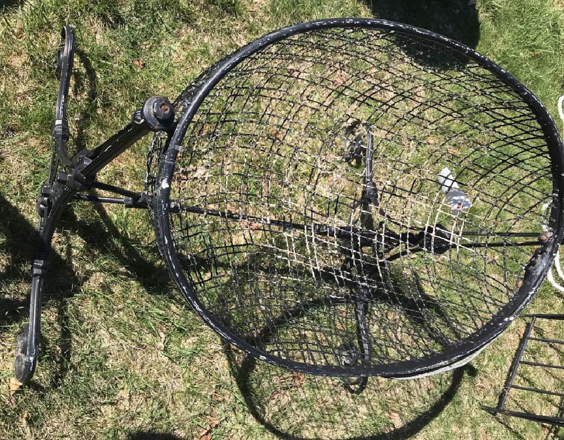 Antique French Iron Bassinet - 2