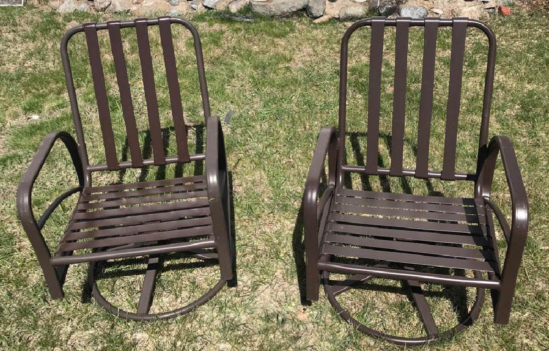 Pair of Brown Jordan Armchairs