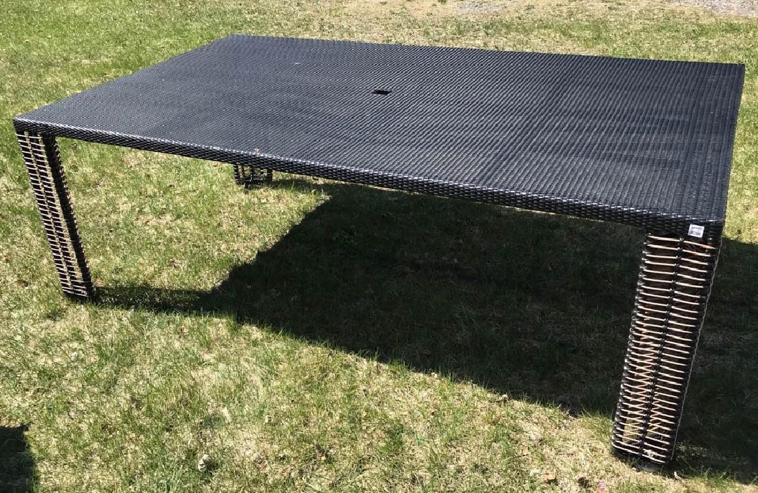 Designer Black Woven Dining Table