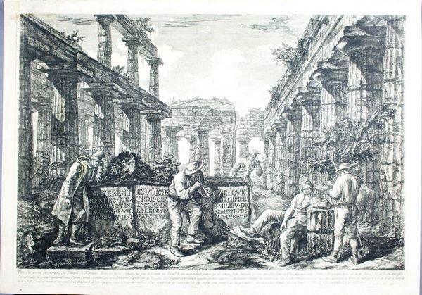 2011: F.Piranesi, Vue, Temple De Neptune, Engraving