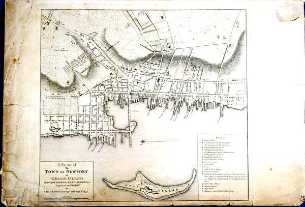 2013: Map: Newport, Rhode Island, HC Engraving