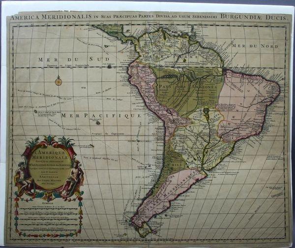2014: Map: Sanson, L'Amerique Meridionale, HC Engrav