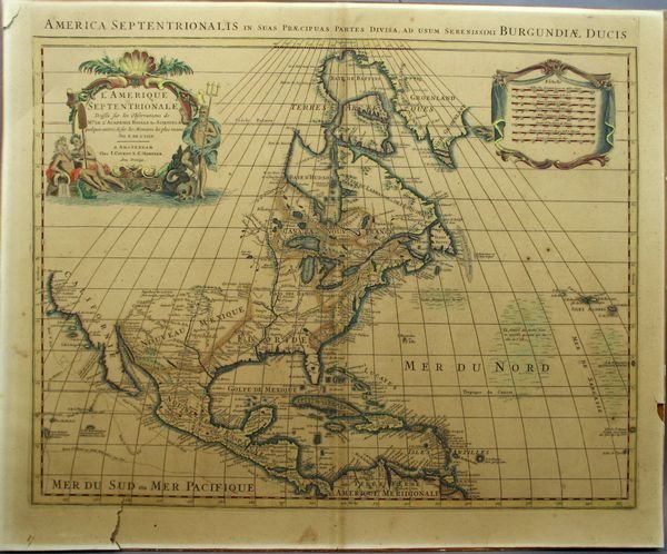 2015: Map: Covens, L'Amerique Septentrionale, Engrav'g