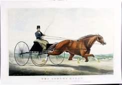 2124 Currier  Ives The Auburn Horse HC Lithograph