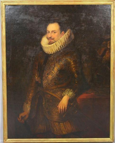 2323: 18th?C. English/Dutch School, Gentleman, o/c