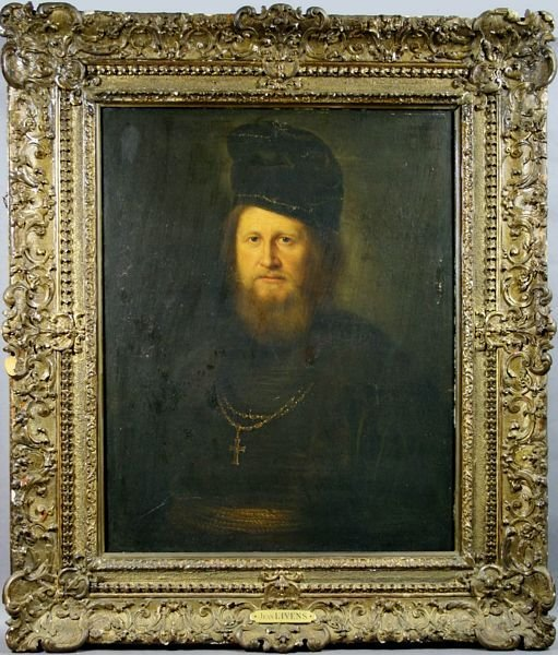 2325: 18/19th C., Portrait of Cleric, after Jan Lievens