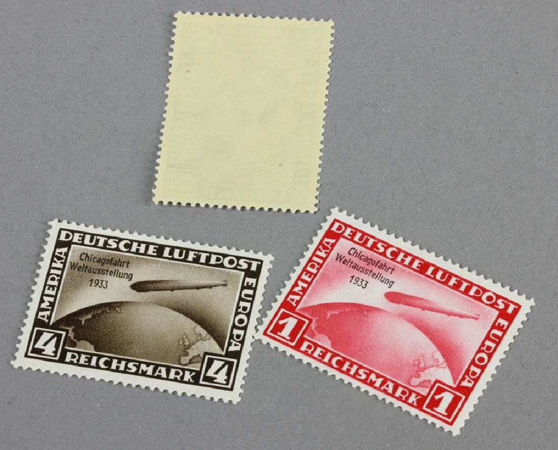 Stamps Germany Zeppelins C43 C44 C45 MNH - 3