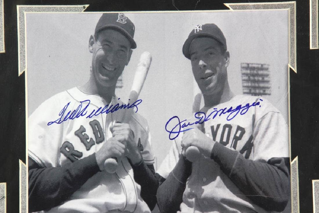 Framed Photo of Ted Williams and Joe Di Maggio - 2