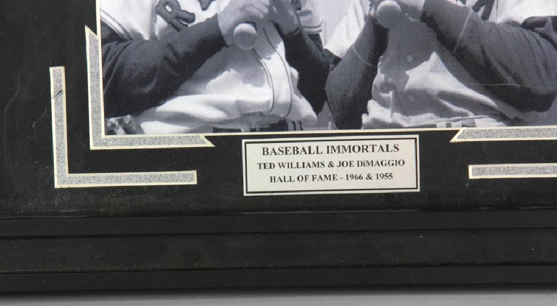 Framed Photo of Ted Williams and Joe Di Maggio - 3