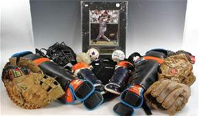 Collection of Vintage Baseball Equipment