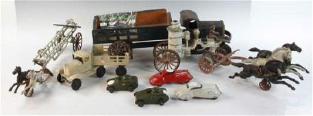 Group of Vintage Iron and Tin Toy Vehicles