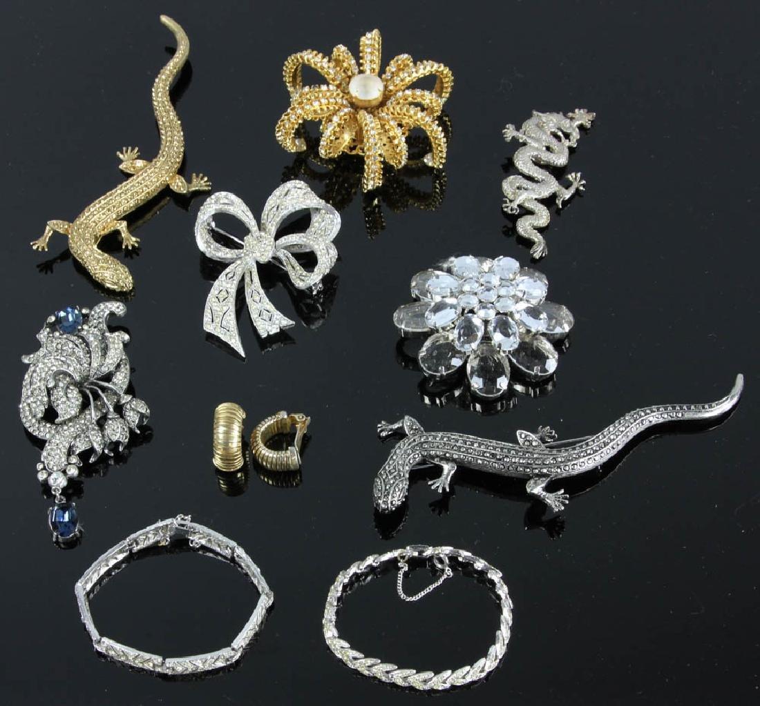 Ten Pieces of Costume Jewelry