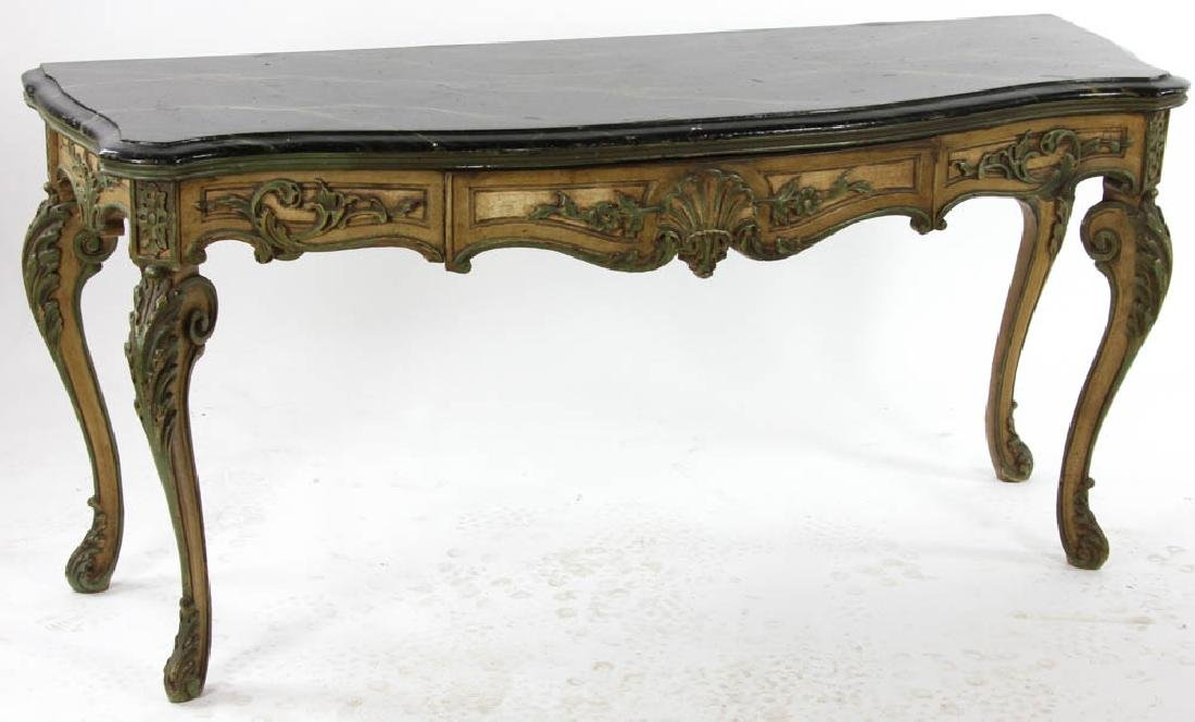 Faux Decorated Console Table