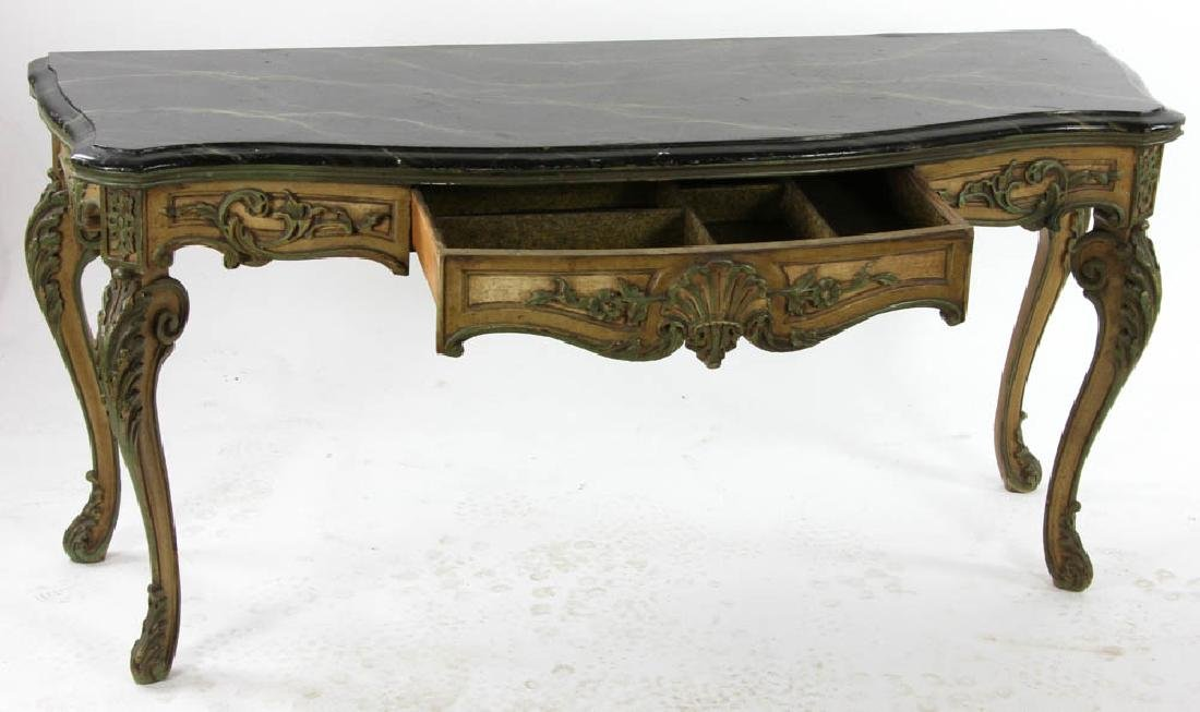 Faux Decorated Console Table - 2
