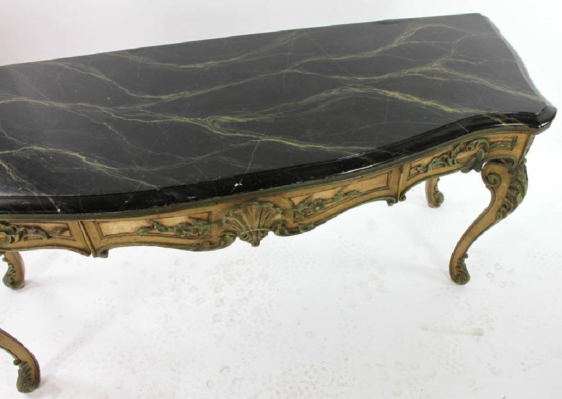Faux Decorated Console Table - 5